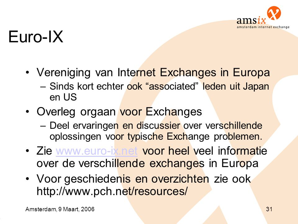Euro-IX Vereniging van Internet Exchanges in Europa