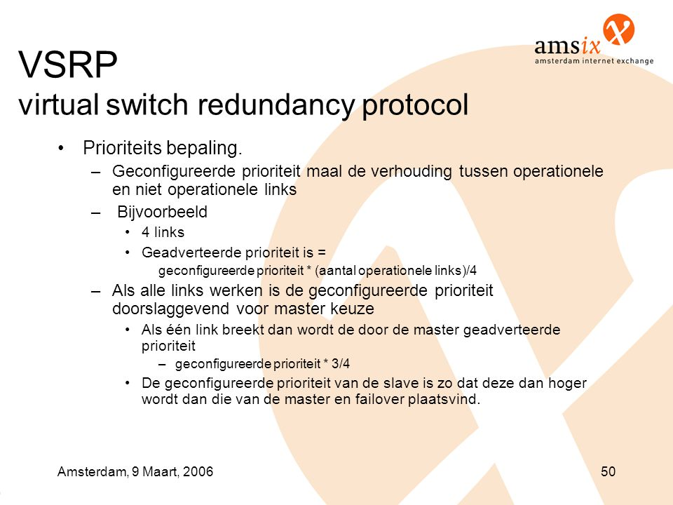 VSRP virtual switch redundancy protocol