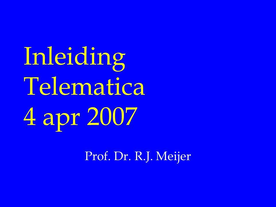 Inleiding Telematica 4 apr 2007
