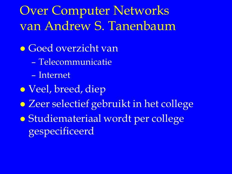 Over Computer Networks van Andrew S. Tanenbaum
