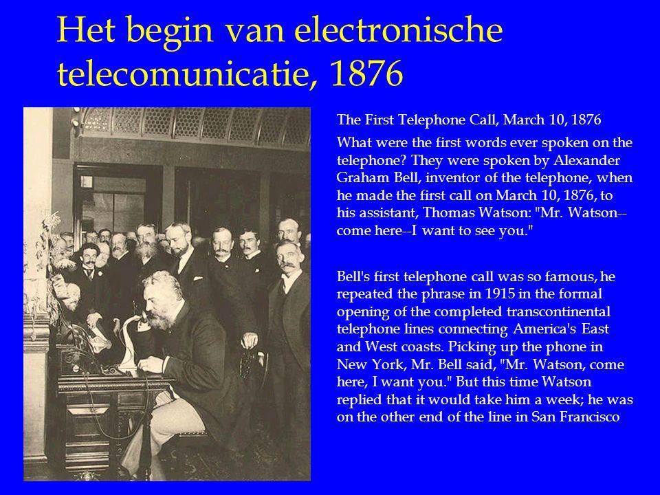 Het begin van electronische telecomunicatie, 1876