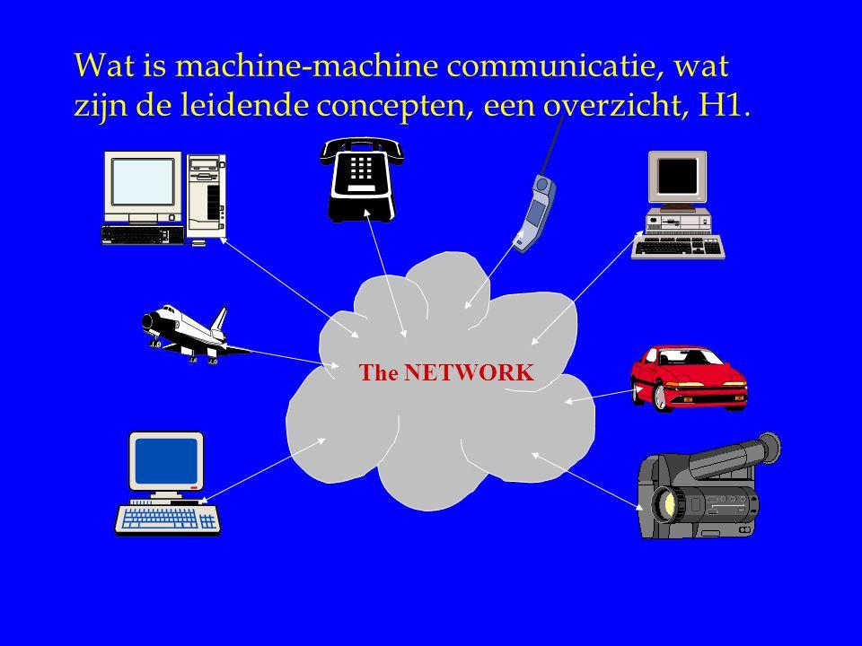 Internet Diensten Wat is machine-machine communicatie, wat zijn de leidende concepten, een overzicht, H1.