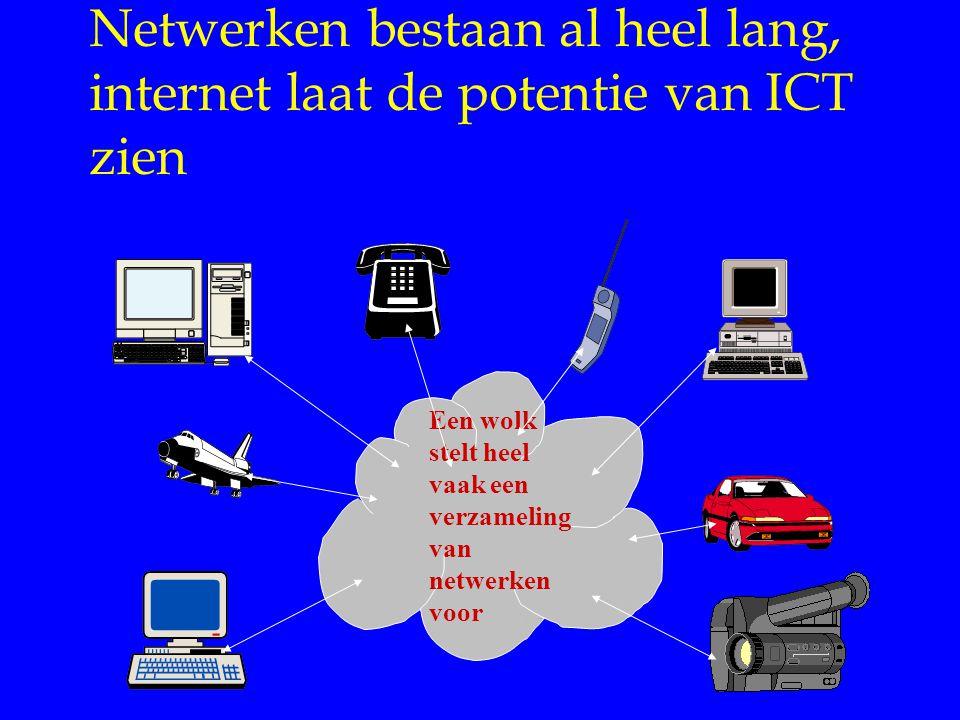Netwerken bestaan al heel lang, internet laat de potentie van ICT zien