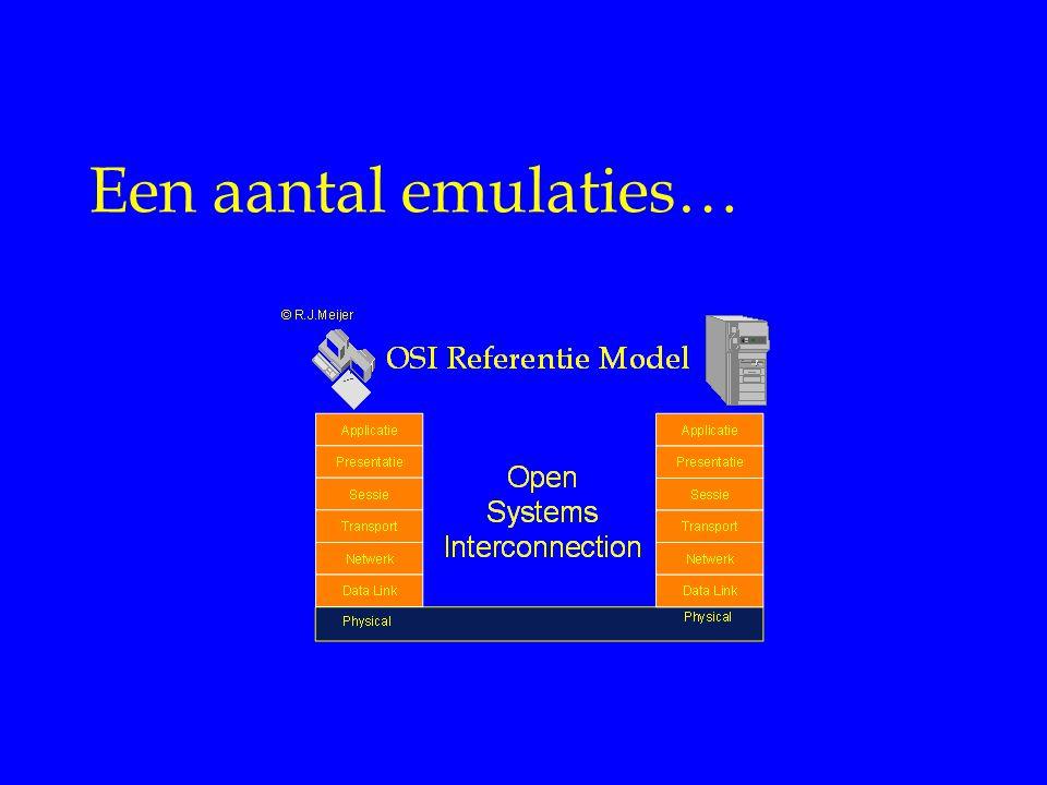 Internet Diensten Een aantal emulaties… (c) KPN Valley