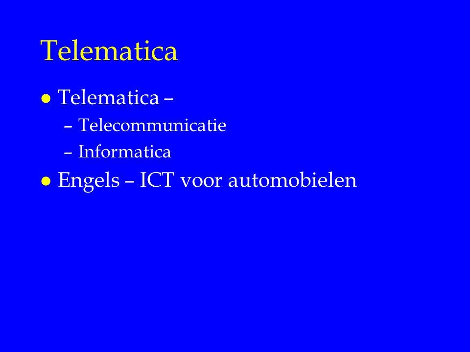 Telematica Telematica – Engels – ICT voor automobielen