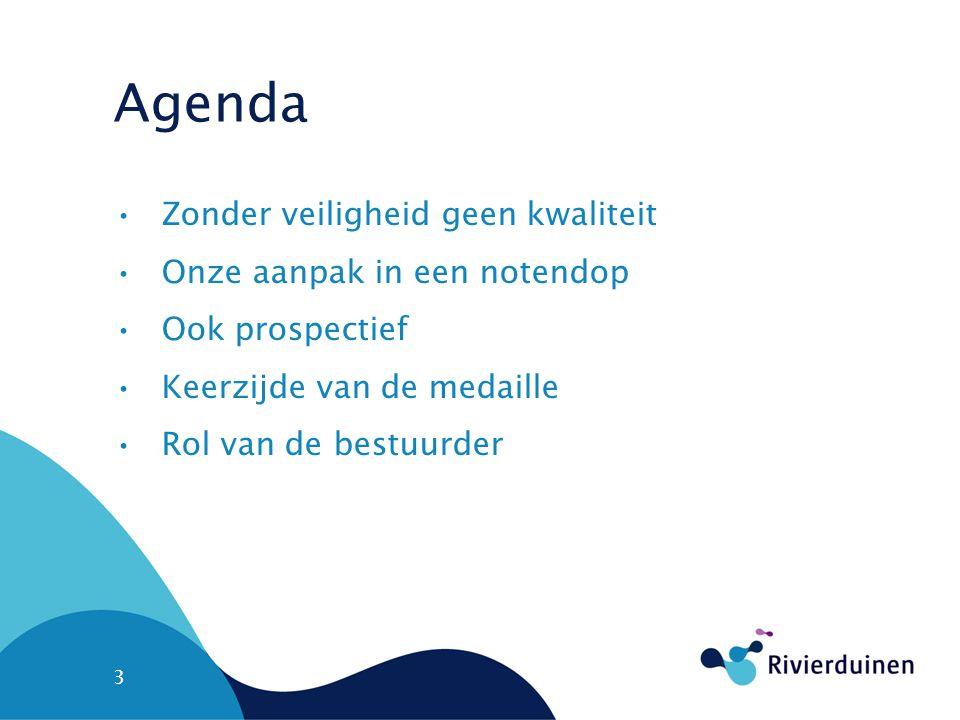 Agenda Zonder veiligheid geen kwaliteit Onze aanpak in een notendop