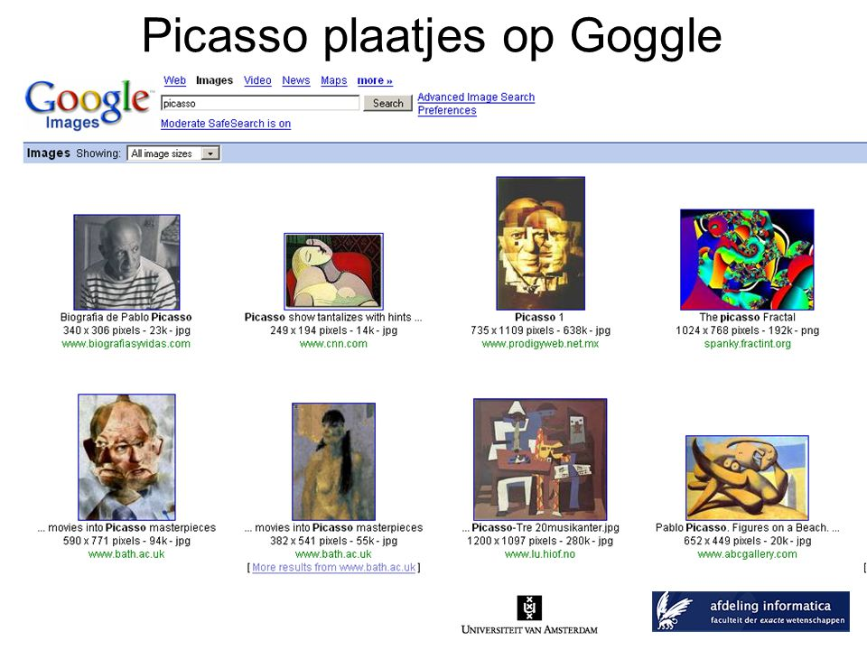 Picasso plaatjes op Goggle