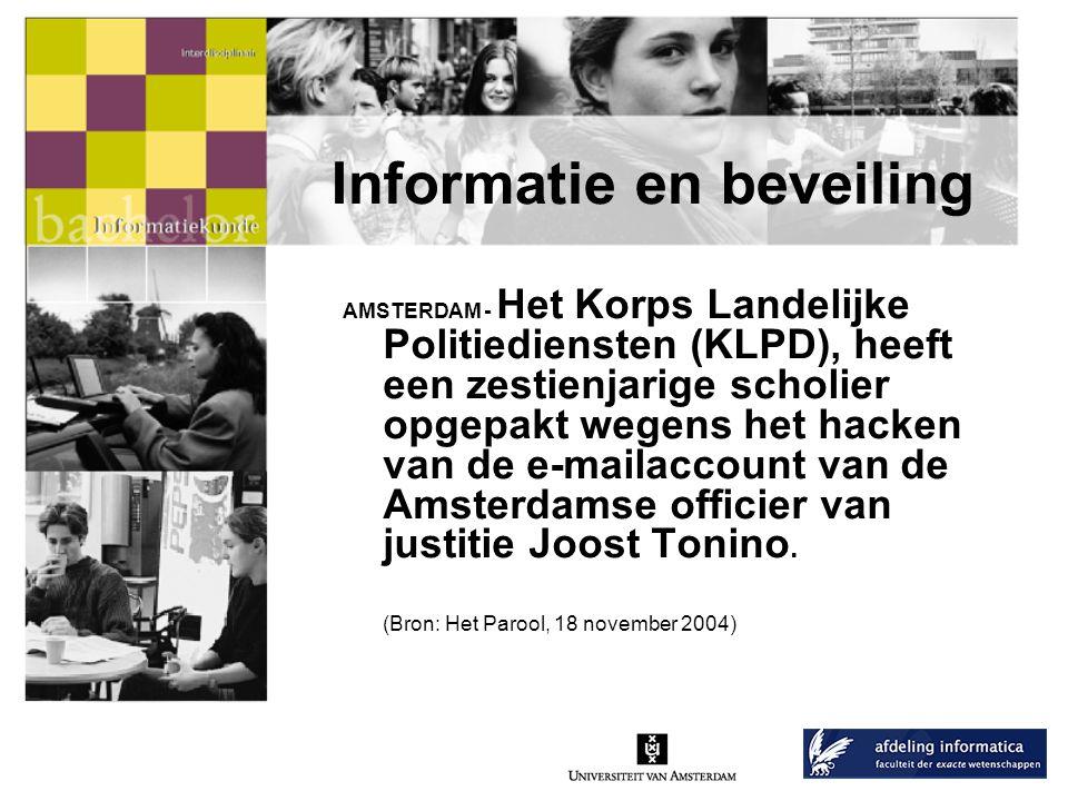 Informatie en beveiling