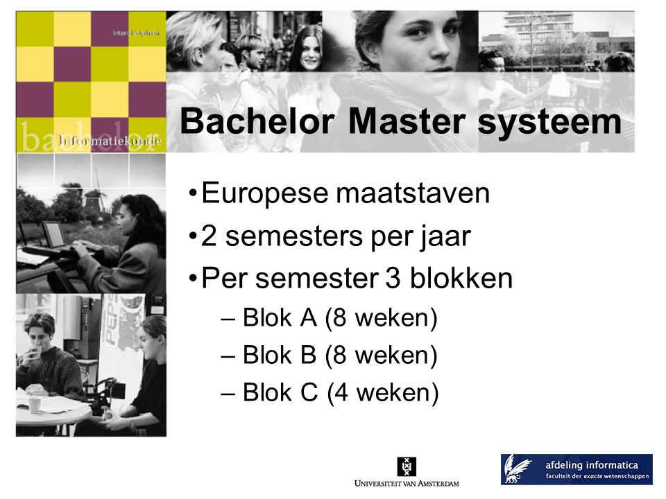 Bachelor Master systeem