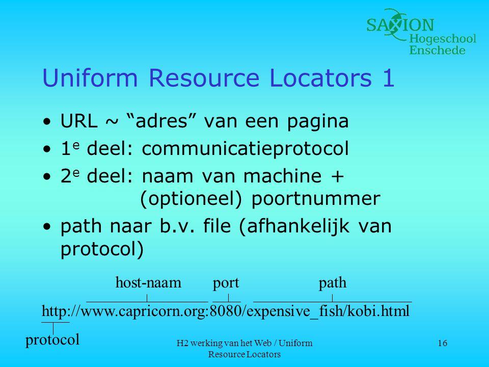 Uniform Resource Locators 1