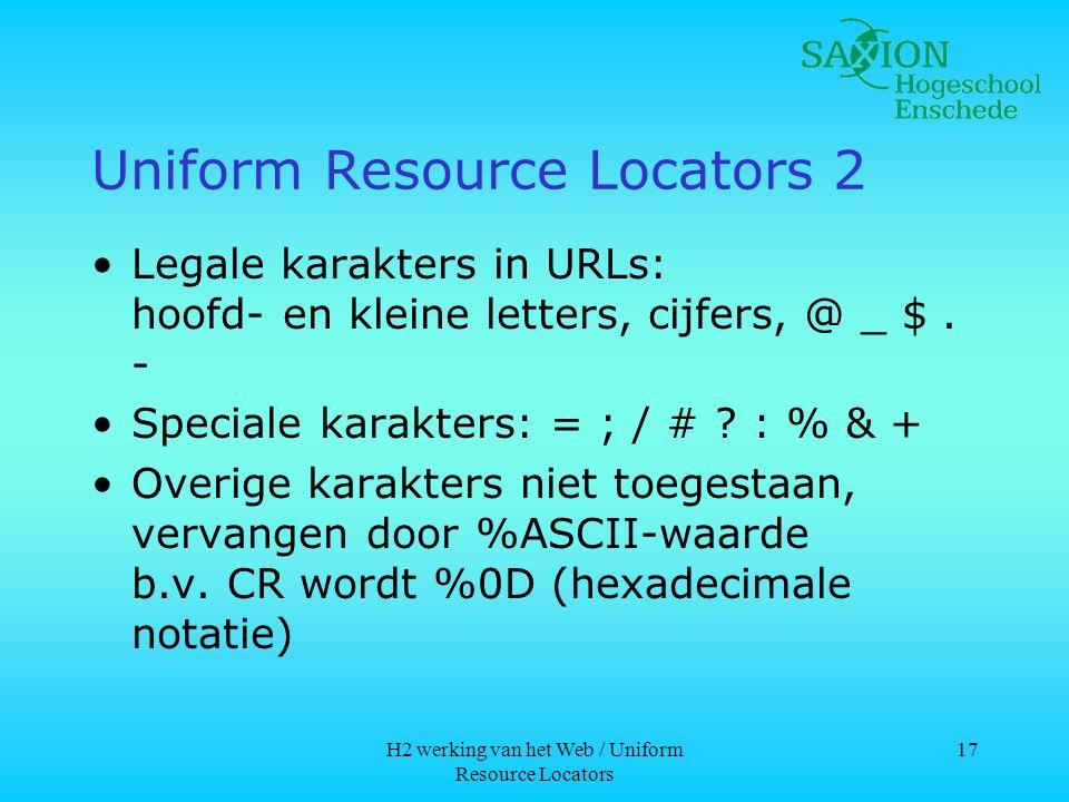 Uniform Resource Locators 2