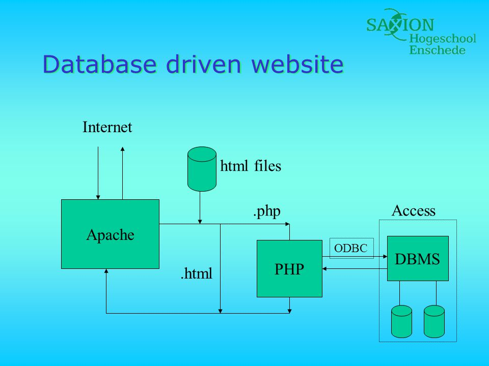 Database driven website