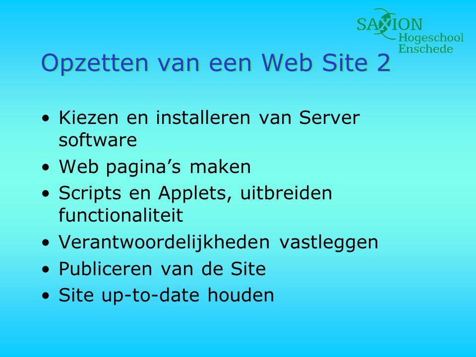 Opzetten van een Web Site 2
