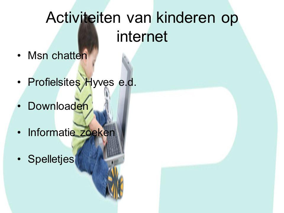 Activiteiten van kinderen op internet