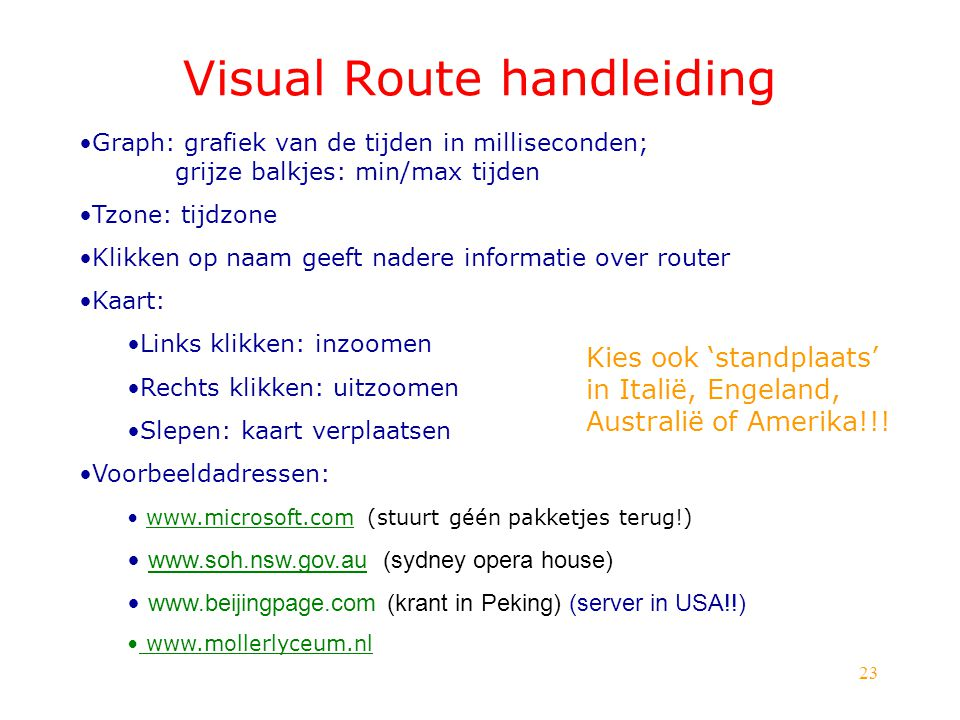 Visual Route handleiding