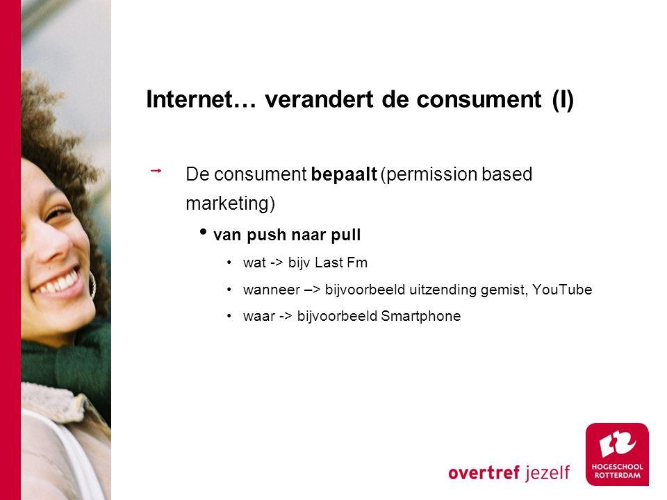 Internet… verandert de consument (I)