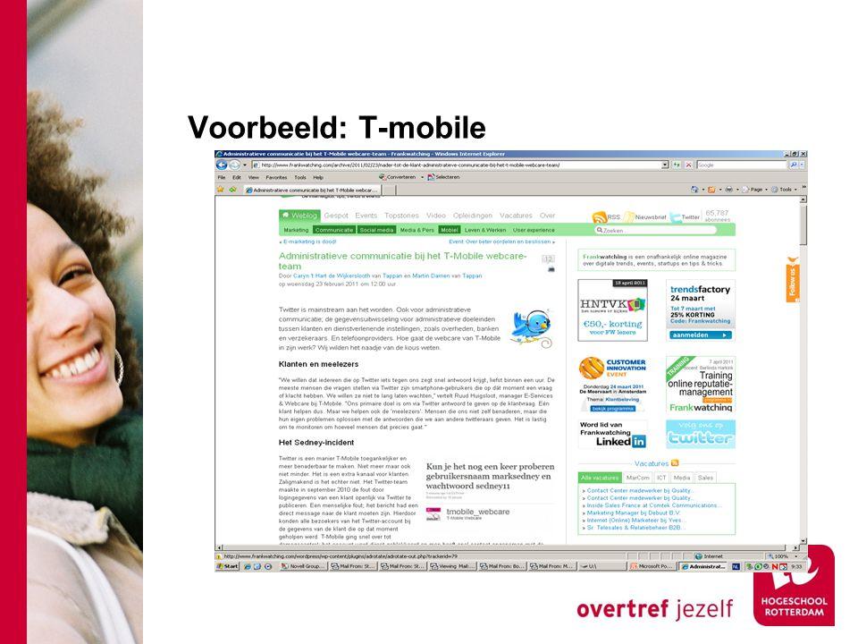 Voorbeeld: T-mobile