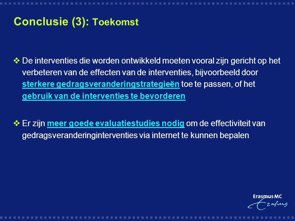 Conclusie (3): Toekomst