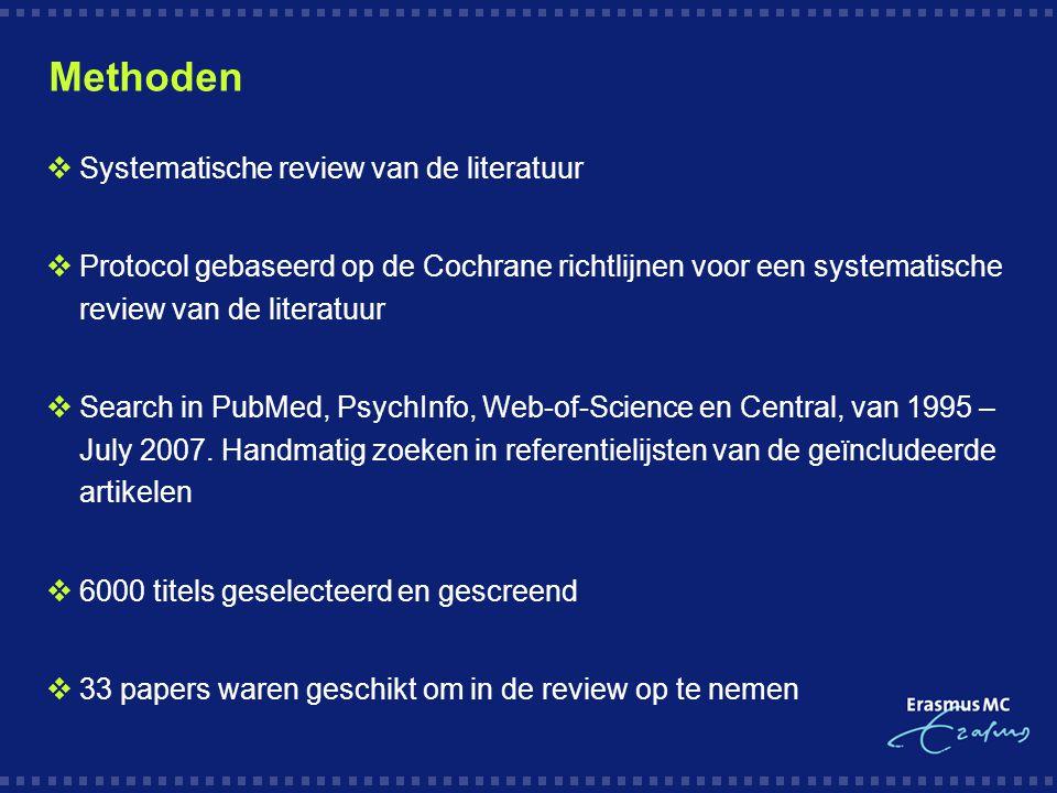Methoden Systematische review van de literatuur