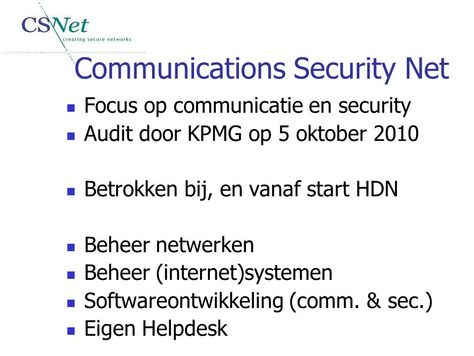 Communications Security Net