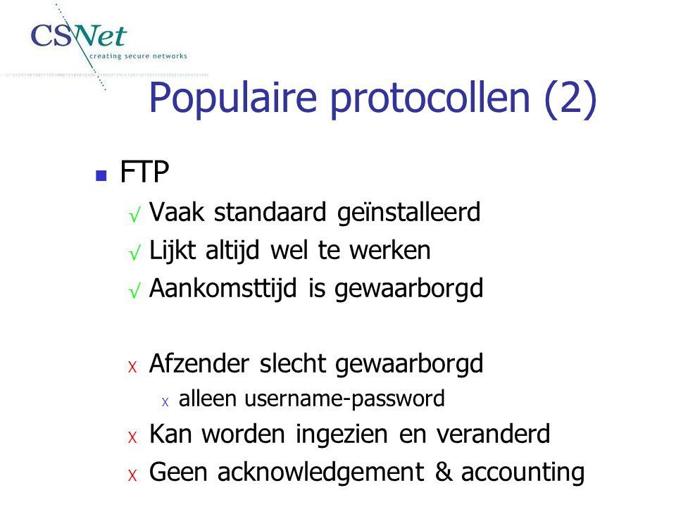 Populaire protocollen (2)