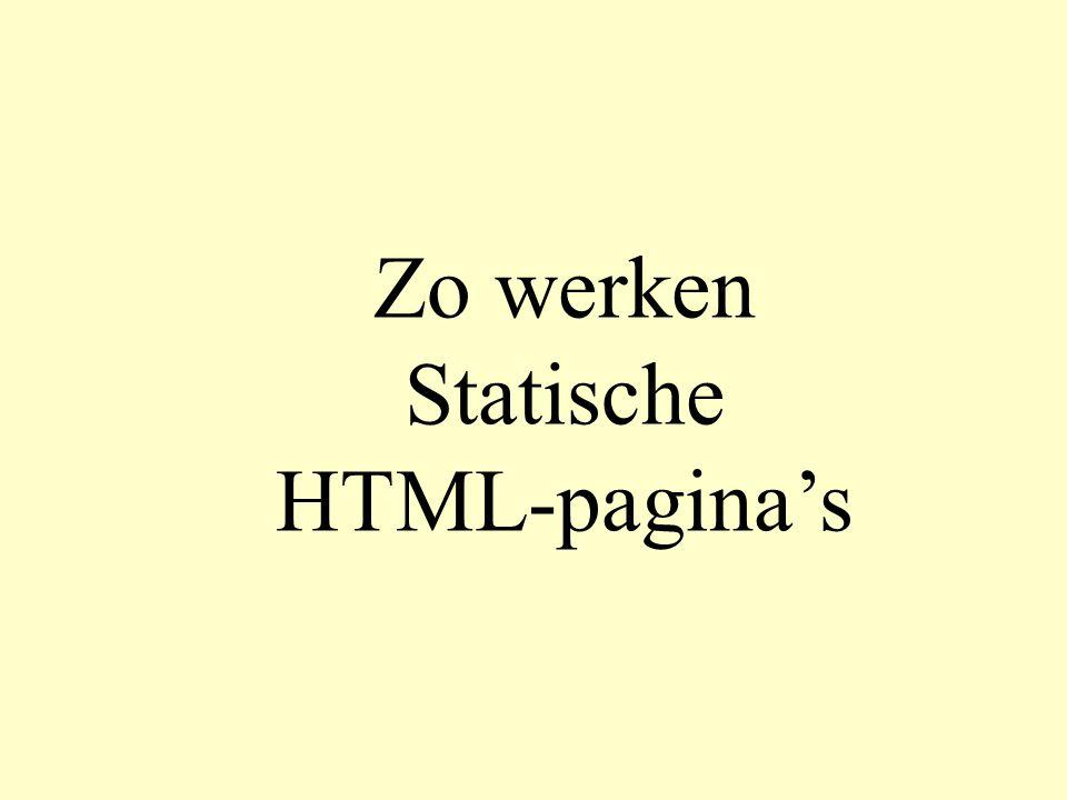 Zo werken Statische HTML-pagina's