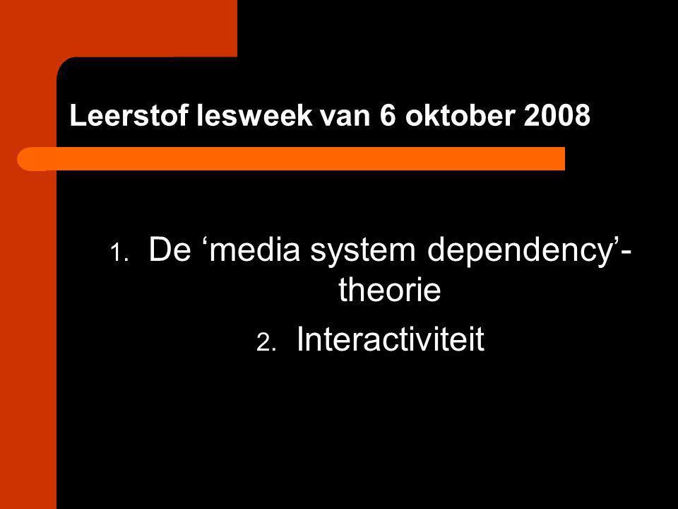 Leerstof lesweek van 6 oktober 2008