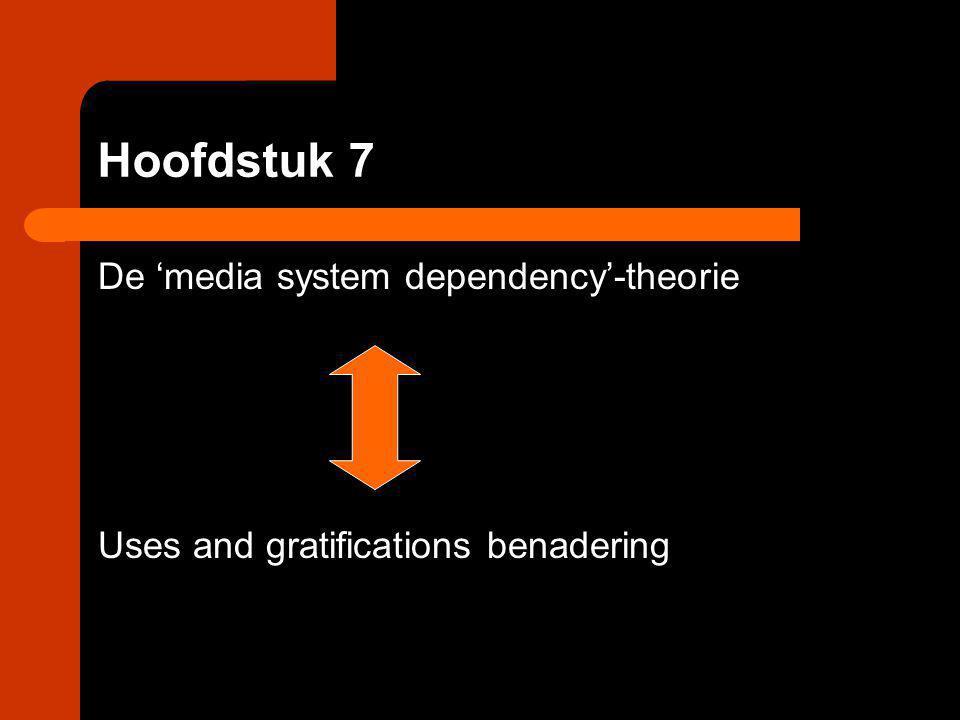 Hoofdstuk 7 De 'media system dependency'-theorie