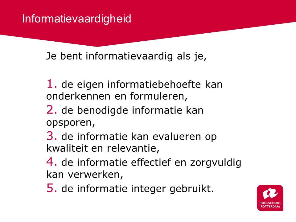 Informatievaardigheid