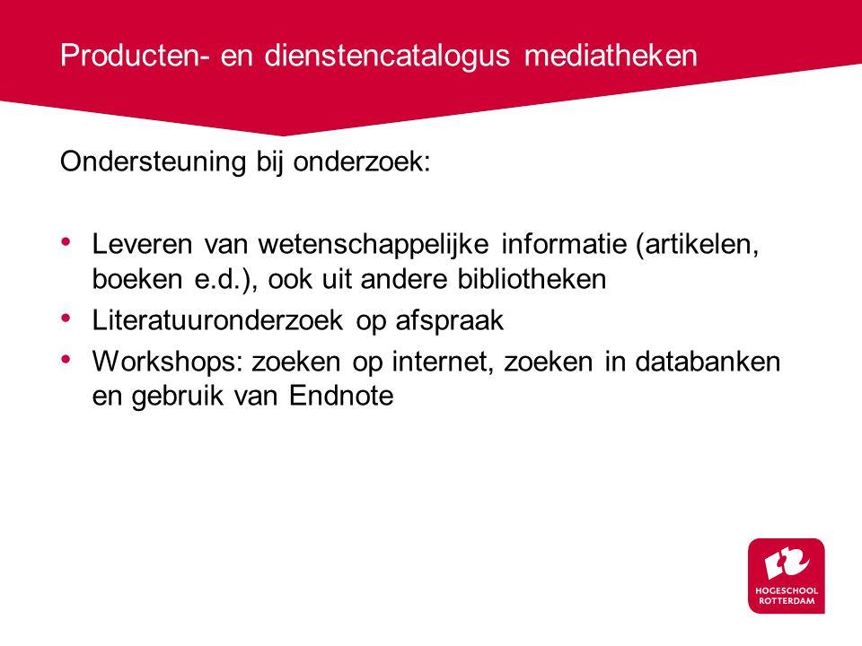 Producten- en dienstencatalogus mediatheken