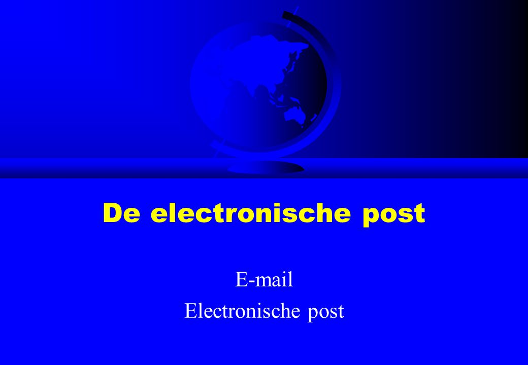 E-mail Electronische post