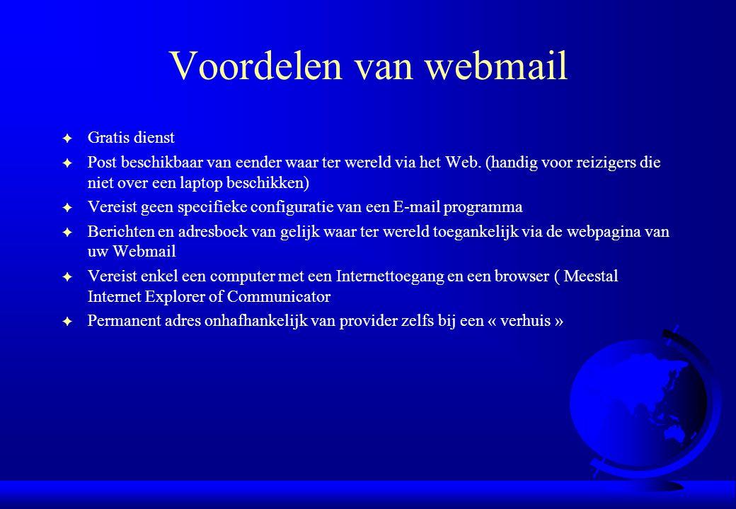 Voordelen van webmail Gratis dienst