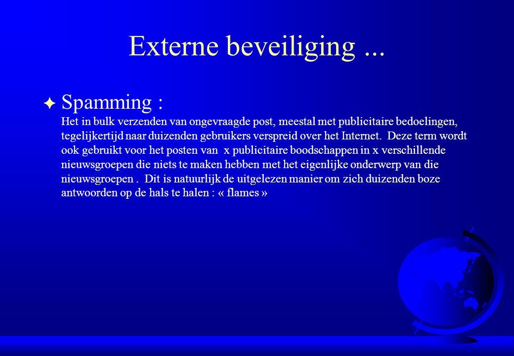 Externe beveiliging ...
