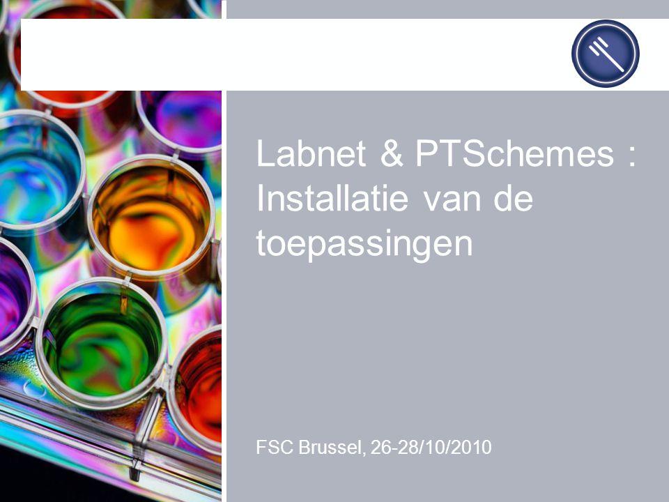 Labnet & PTSchemes : Installatie van de toepassingen