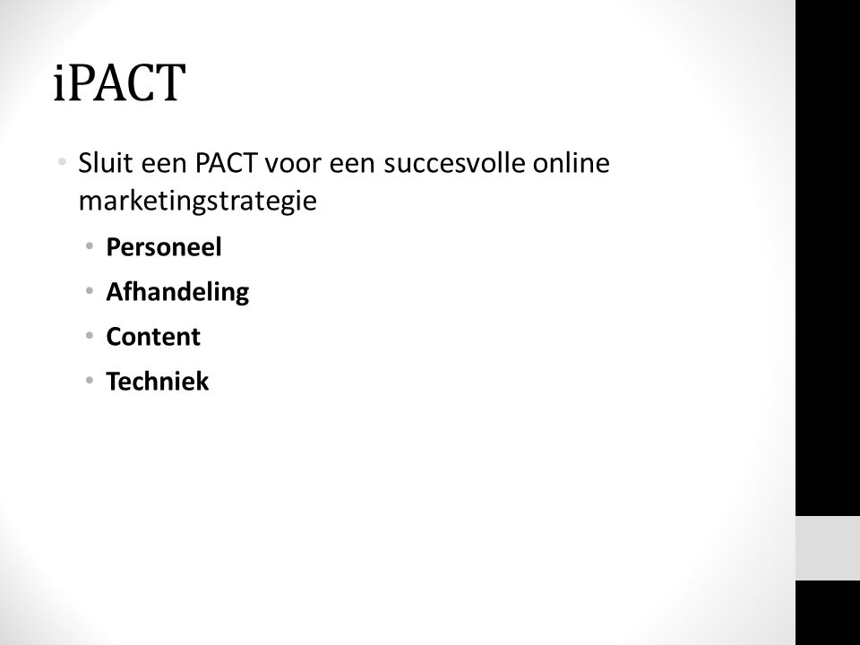 iPACT Sluit een PACT voor een succesvolle online marketingstrategie