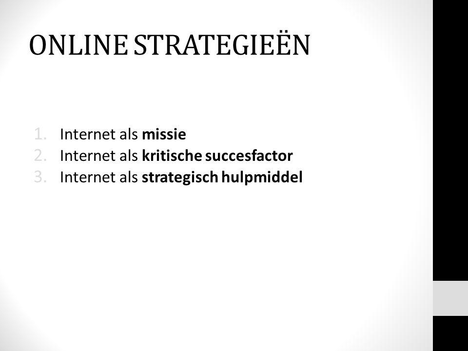 ONLINE STRATEGIEËN Internet als missie