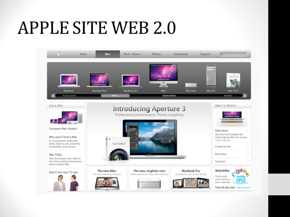 APPLE SITE WEB 2.0