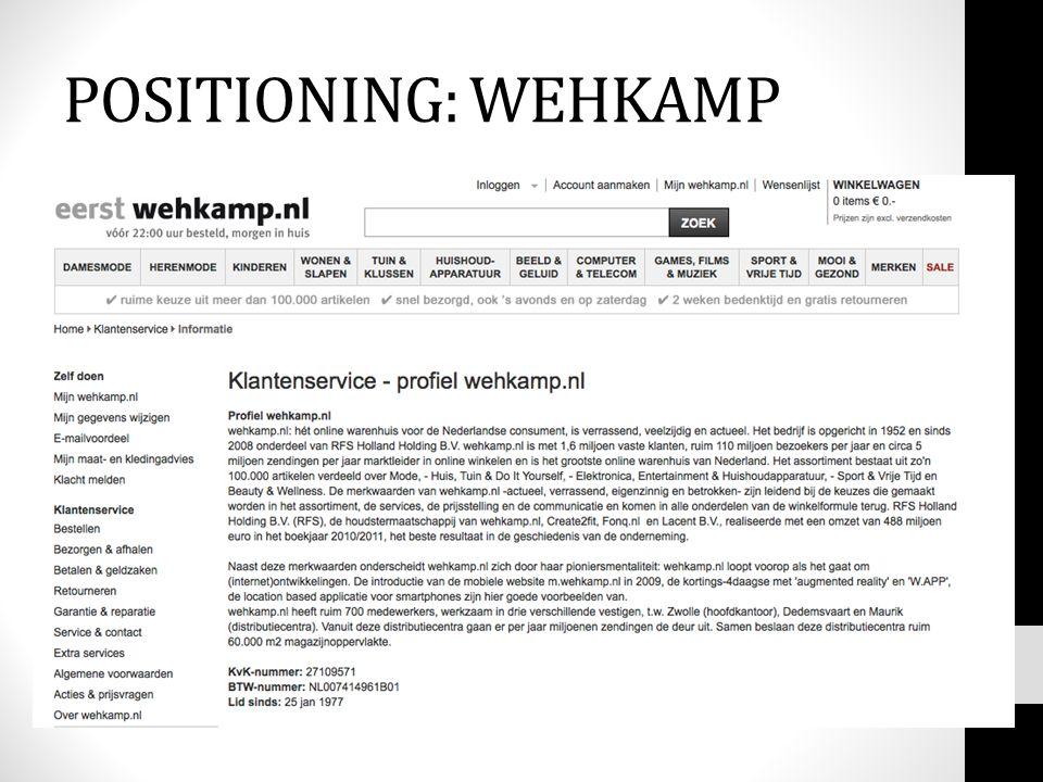 POSITIONING: WEHKAMP