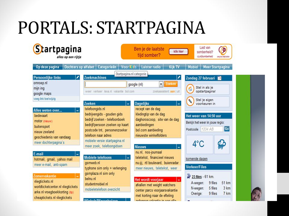 PORTALS: STARTPAGINA