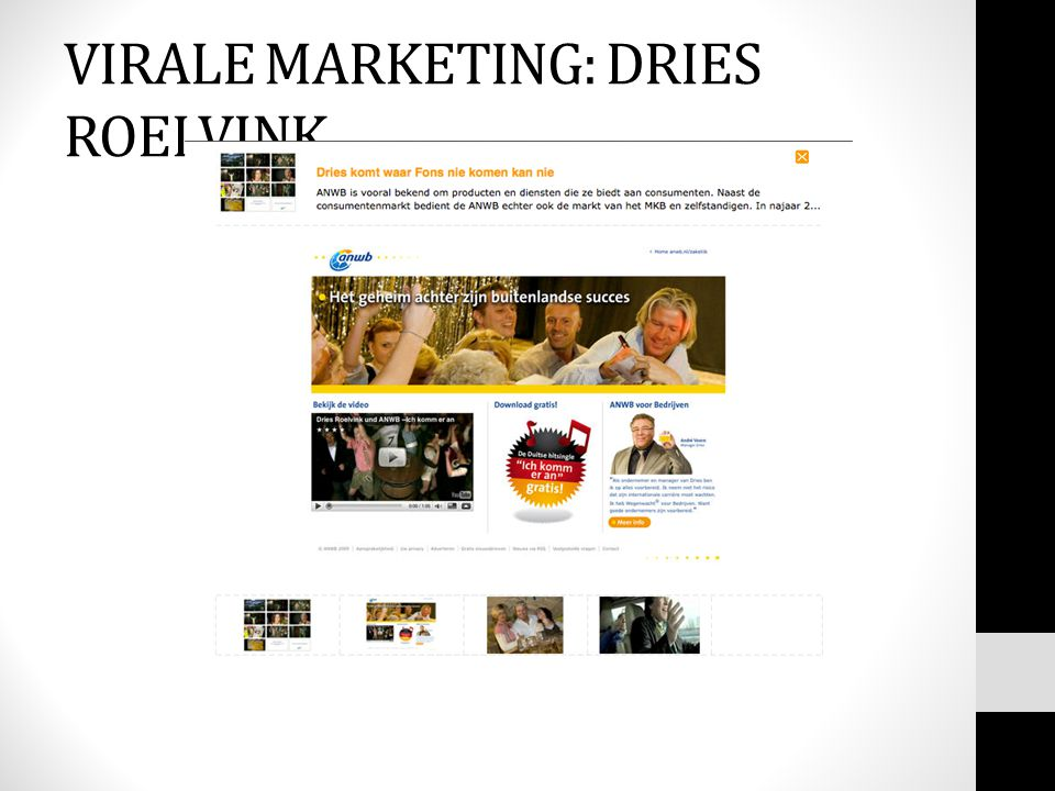 VIRALE MARKETING: DRIES ROELVINK