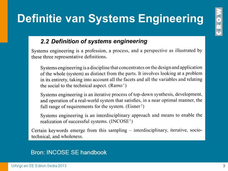 Definitie van Systems Engineering