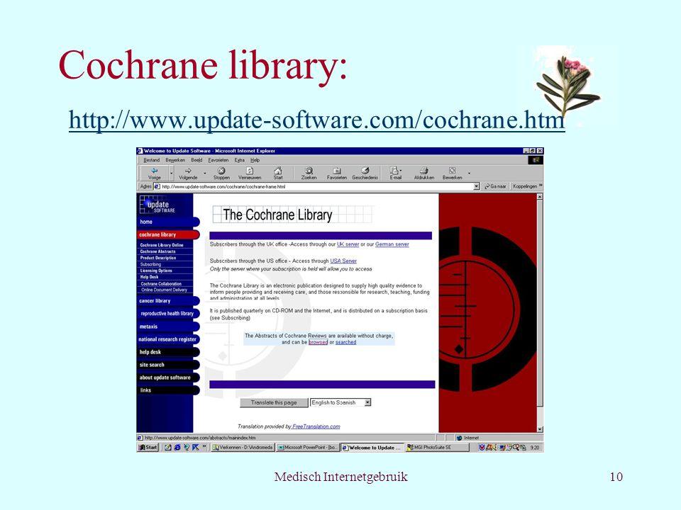 Cochrane library: http://www.update-software.com/cochrane.htm