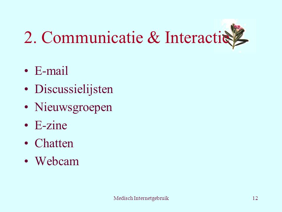 2. Communicatie & Interactie