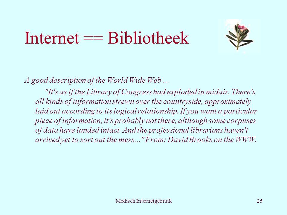 Internet == Bibliotheek