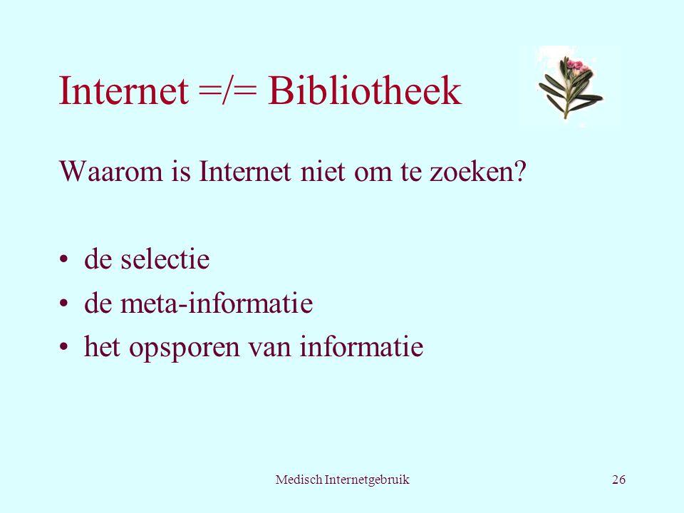 Internet =/= Bibliotheek