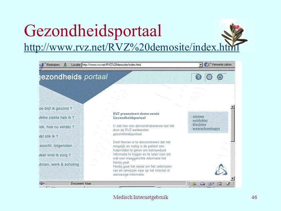 Gezondheidsportaal http://www.rvz.net/RVZ%20demosite/index.html
