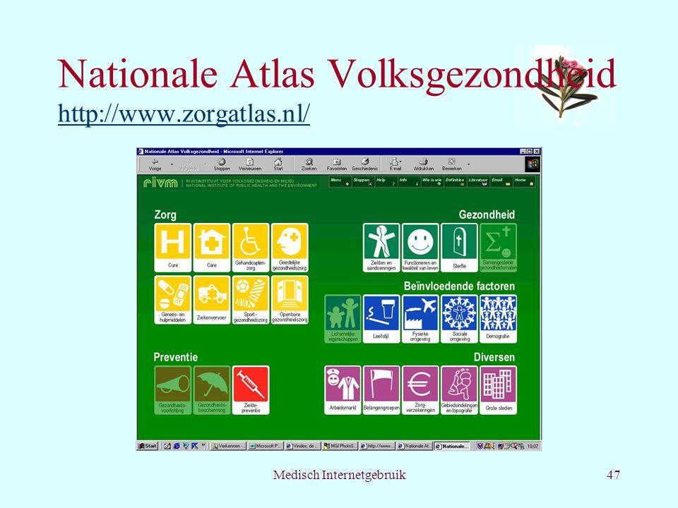Nationale Atlas Volksgezondheid http://www.zorgatlas.nl/