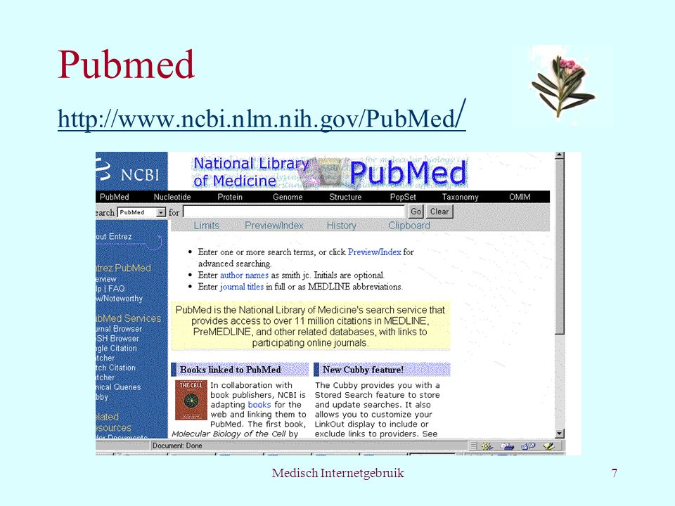 Pubmed http://www.ncbi.nlm.nih.gov/PubMed/