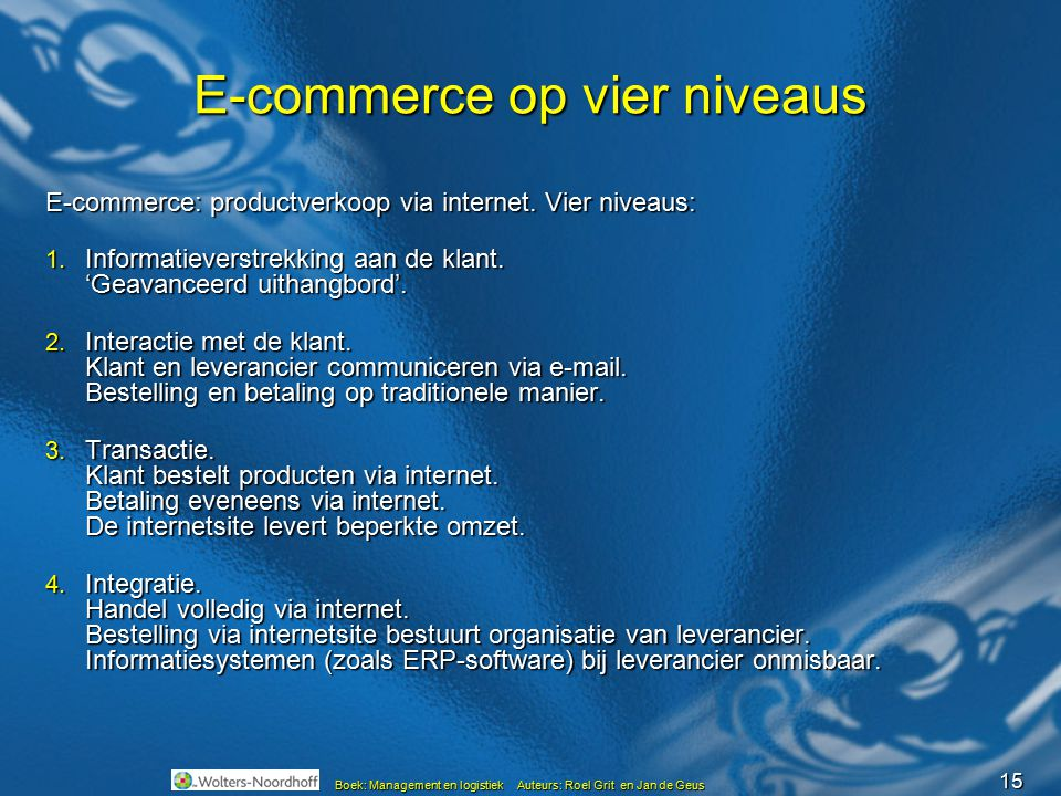 E-commerce op vier niveaus