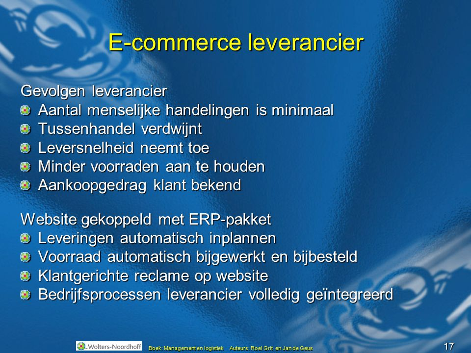 E-commerce leverancier